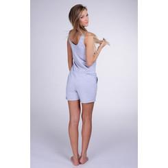 Lazzzy ® Heather Grey grau SUMMY Short Jumpsuit Onesie Overall