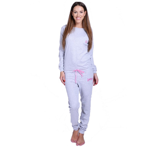 Lazzzy ® SUMMY Heather Grey grau Jumpsuit Onesie Overall