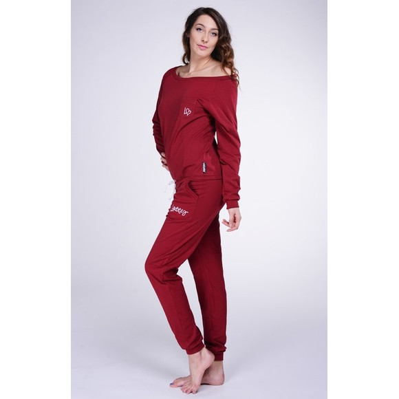 Lazzzy ® SUMMY Claret Red rot Jumpsuit Onesie Overall