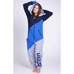 Lazzzy ® TRIO Blue grey blau grau Limited Edition Jumpsuit Onesie Overall
