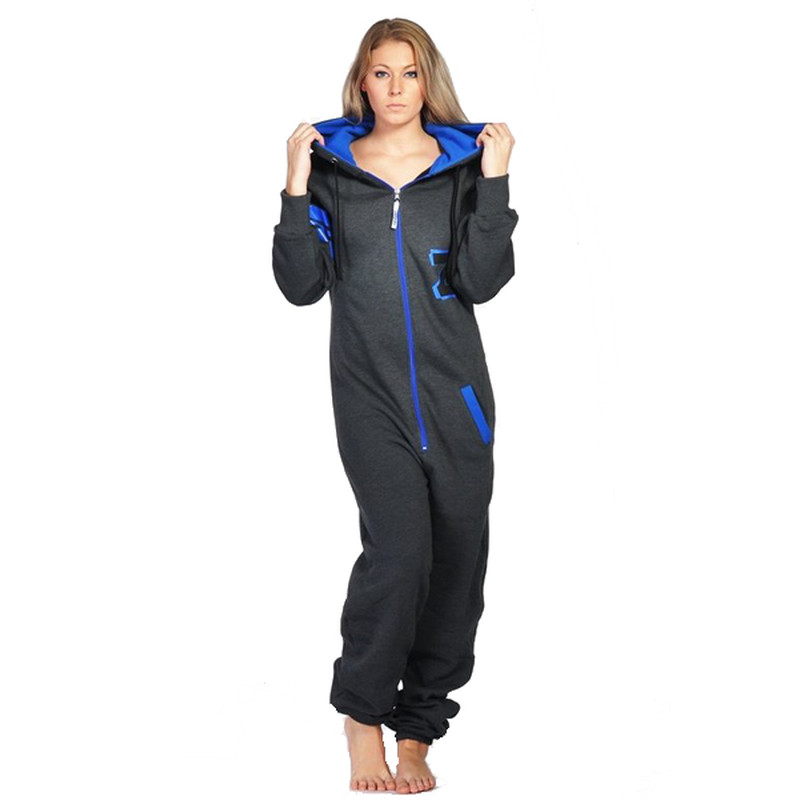Lazzzy ® Fashion Graphite Ocean Blue Jumpsuit Onesie Overall