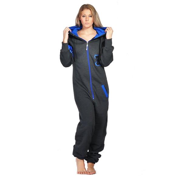 Lazzzy ® Fashion Graphite Ocean Blue Jumpsuit Onesie...