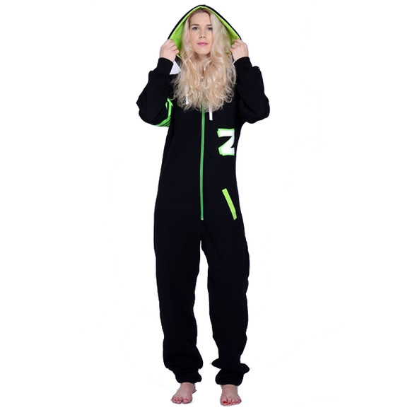 Lazzzy ® Fashion Black Acid green Jumpsuit Onesie...