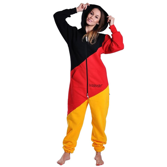 Lazzzy ® LIMITED Germany tricolor Jumpsuit Onesie Overall