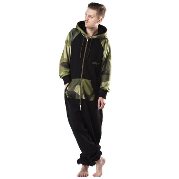 Lazzzy ® LIMITED Black Camo Green Jumpsuit Onesie...