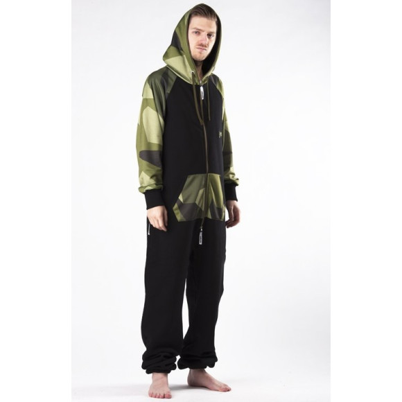 Lazzzy ® LIMITED Black Camo Green Jumpsuit Onesie Overall