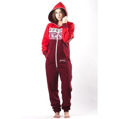 Lazzzy ® LIMITED Jelen Red Jumpsuit Onesie Overall