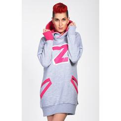 Lazzzy ® ZET Sweat - Hoodie Sweatshirt Grey XS