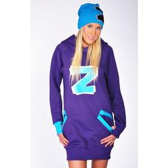 Lazzzy ® ZET Sweat - Hoodie Sweatshirt Purple XS