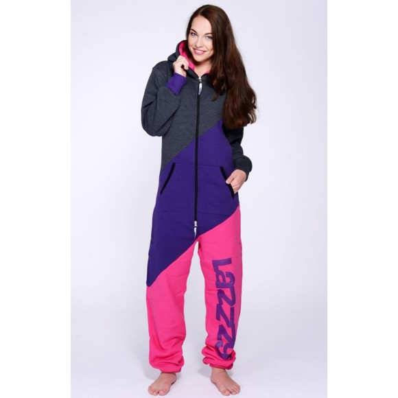 Lazzzy ® TRIO Graphite / Purple / Pink S