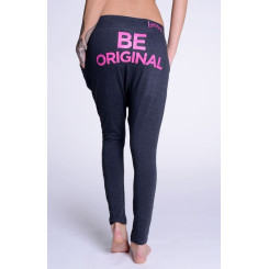 Lazzzy ® COMFY Pants - Graphite / Pink M