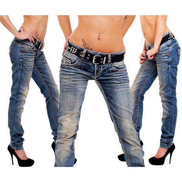 Cipo & Baxx CBW 347 Damen Frauen Jeanshose Jeans Hose...