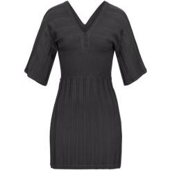 Feinstrick Kleid mit Knöpfen