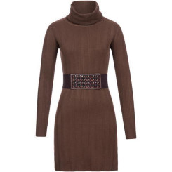 Feinstrick Kleid mit Gürtel
