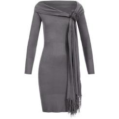 Feinstrick Kleid mit Schal