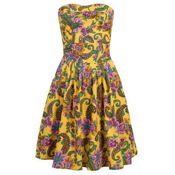 Bandeau-Kleid im Paisley Muster