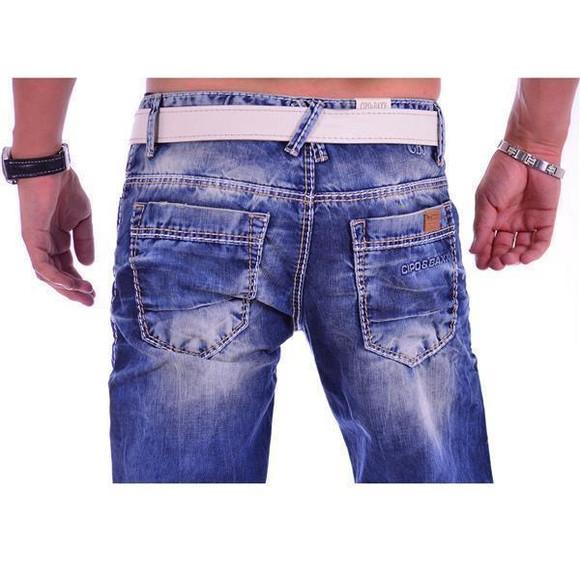Cipo & Baxx C 1149 Herren Männer Jeans Hose Denim blue blau dicke Nähte Regular W29 L30