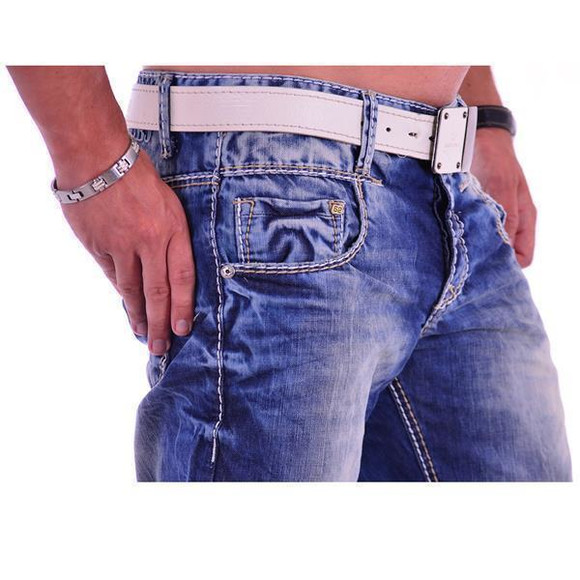 Cipo & Baxx C 1149 Herren Männer Jeans Hose Denim blue blau dicke Nähte Regular W32 L30