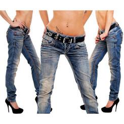 Cipo & Baxx CBW 347 Damen Frauen Jeanshose Jeans Hose blau blue dirty used Look W31 L30