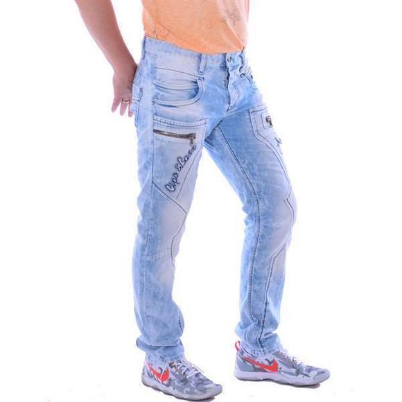 Cipo & Baxx CD 272 Herren Männer Denim Jeans Hose Jeanshose hellblau blau blue W40 L32