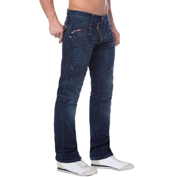 Cipo & Baxx C 768 Herren Jeans Hose Denim dark blue dunkel blau Zipper Regular W40 L34