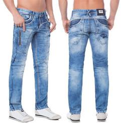 Cipo & Baxx C 1150 Herren Jeans Hose Denim blue blau Zipper Regular Straight Cut W40 L34