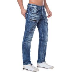 Cipo & Baxx C 1178 Herren Denim Jeans Hose Männer Jeanshose blau blue Zipper W30 L30