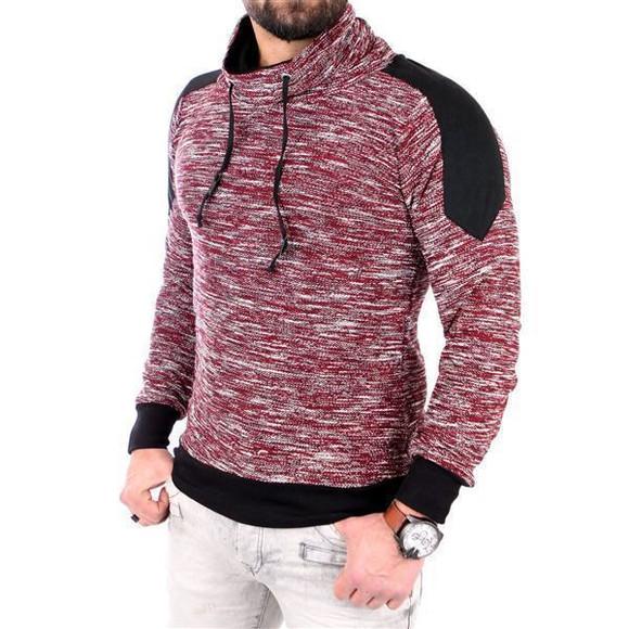 Reslad Sweatshirt RS-105 S Bordeaux-Schwarz