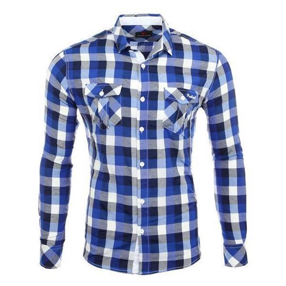Reslad Herren Hemd Orlando RS-7060 Blau S