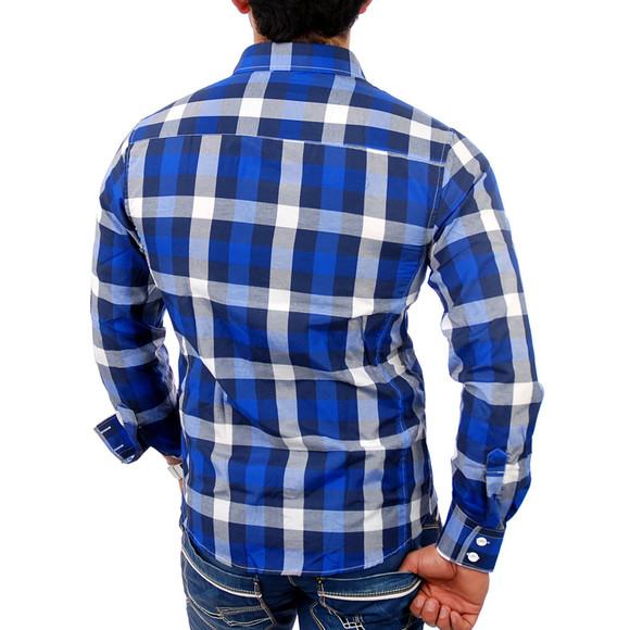 Reslad Herren Hemd Orlando RS-7060 Blau XL