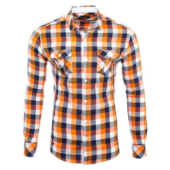 Reslad Herren Hemd Orlando RS-7060 Orange XL