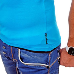 Reslad Herren T-Shirt Miami RS-5050 Türkis-Schwarz XL