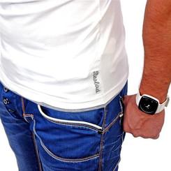 Reslad Herren T-Shirt Miami RS-5050 Weiß-Grau XL