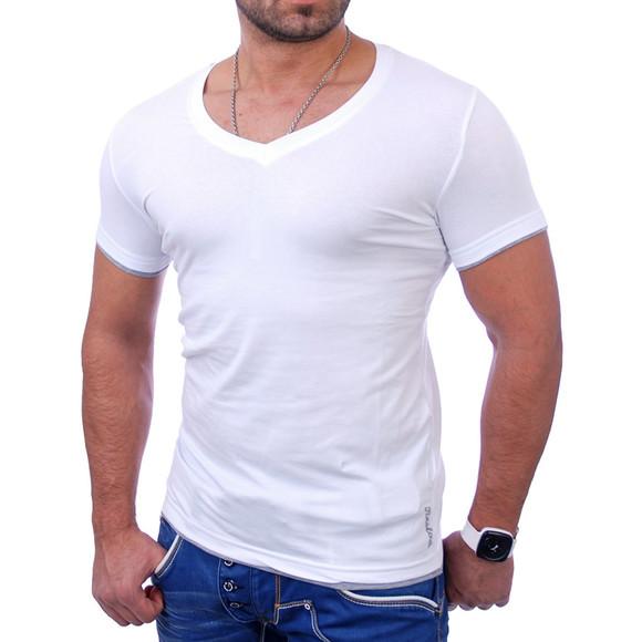 Reslad Herren T-Shirt Miami RS-5050 Weiß-Grau 2XL