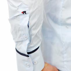 Reslad Herren Langarm Hemd Madison RS-7090 Hellblau-Navy M