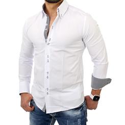 Reslad Herren Langarm Hemd Medford RS-7080 Weiß S