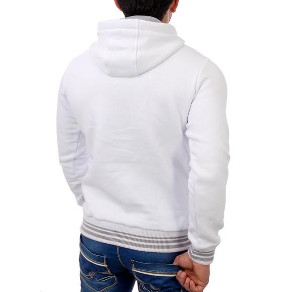 Reslad Herren Kapuzen Pullover Phoenix RS-1004 Weiß M
