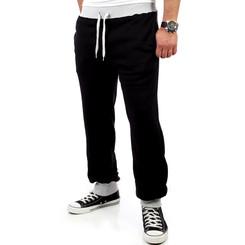 Reslad Herren Athletic Sweatpant Jogginghose RS-5100 Schwarz-Grau S