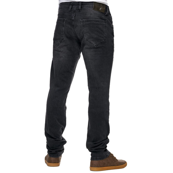 Reslad Jeans-Herren Slim Fit Basic Style Stretch-Denim Jeans-Hose RS-2063 Schwarz W38 / L34