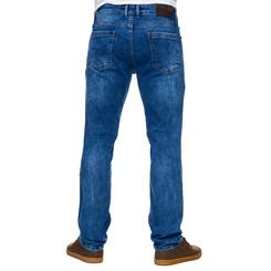 Reslad Jeans-Herren Slim Fit Basic Style Stretch-Denim Jeans-Hose RS-2063 Blau W36 / L30