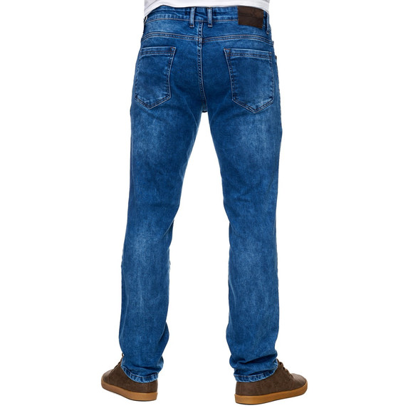 Reslad Jeans-Herren Slim Fit Basic Style Stretch-Denim Jeans-Hose RS-2063 Blau W33 / L32