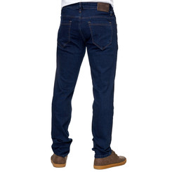 Reslad Jeans-Herren Slim Fit Basic Style Stretch-Denim Jeans-Hose RS-2063 Dunkelblau W30 / L34