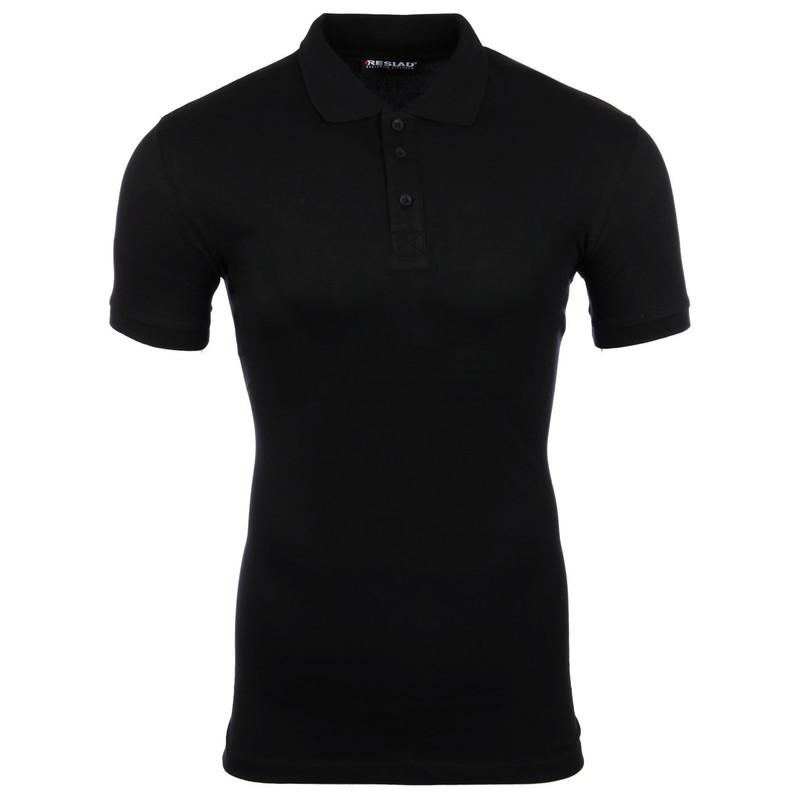 new products 36380 00f5d Reslad Poloshirt Herren Basic Slim Fit Kurzarm Pique Polo-Shirt RS-5090  Schwarz L