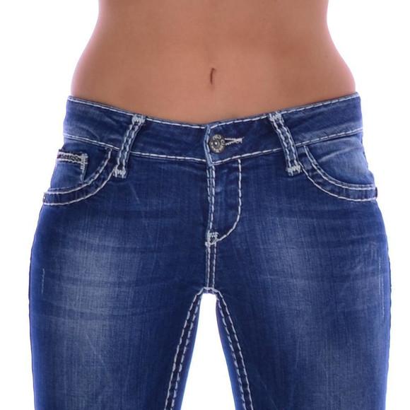 Cipo & Baxx CBW 232 Damen Jeans Blue Denim Frauen...