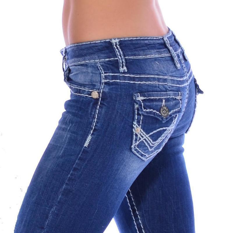 cipo baxx damen jeans blue denim sexy dicke kontrast. Black Bedroom Furniture Sets. Home Design Ideas