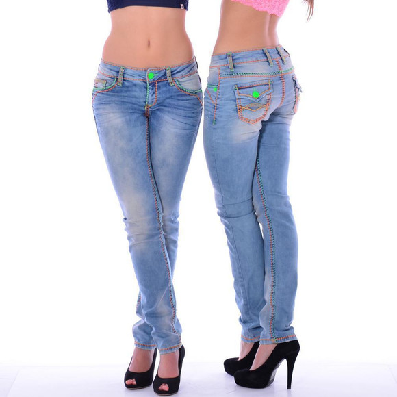 Cipo & Baxx CBW 445 Damen Frauen Jeans Hose Jeanshose...