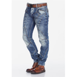 Cipo & Baxx C 894 Herren Denim blue blau Zipper raw Jeans Hose Jeanshose Männer