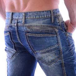 Cipo & Baxx C 894 Herren Denim blue blau Zipper raw Jeans Hose Jeanshose Männer W32 L32