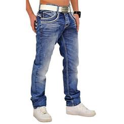 Cipo & Baxx C 1127 Herren Jeans Hose Denim Used Look Regular Jeanshose blau blue