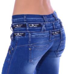 Cipo & Baxx CBW 282 Damen Frauen Jeans Hose Jeanshose blau blue dreifach Bund W28 L32
